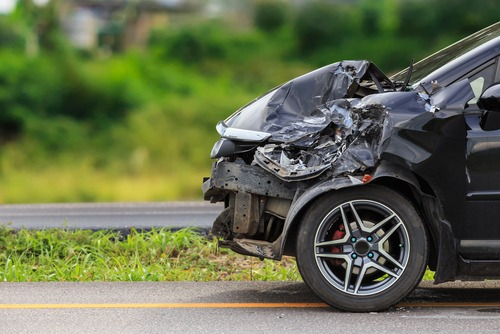 Crashed vehicle whose driver needs a car crash lawyer in Delaware County